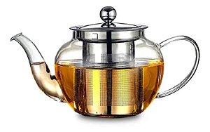 Chaleira Bule Vidro Inox C/ Infusor Chá 600ml - Wincy
