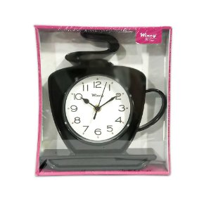 Relógio de Parede Xícara Wincy Preto PDA01011