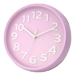 Relógio Parede Redondo Rosa Wincy PDA02056