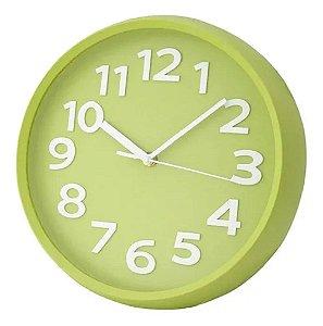 Relógio Parede Redondo Verde Wincy PDA02056