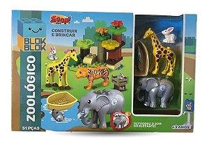 Blocos De Construção - Zoológico - Zp00748 - Zoop Toys