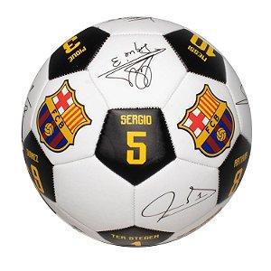Bola de Futebol nº 5 Assinaturas Barcelona -Futebol e Magia