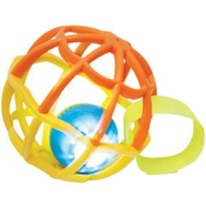 Baby Ball luz e som - Laranja/Amarelo - buba