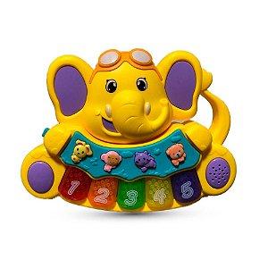 Teclado Elefante musical Zoop Toys - Amarelo