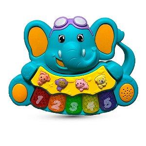Teclado Elefante musical Zoop Toys - Azul
