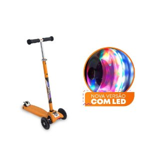 Patinete Scooter Zoop Toys com Led – Laranja