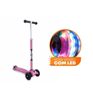 Patinete Scooter Zoop Toys com Led – Rosa