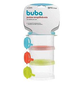 Potes Empilháveis para leite em Pó Buba