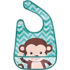 Babador com bolso Animal Fun - Macaco buba