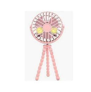 Mini Ventilador de Carrinho Rosa Buba