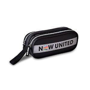 Estojo Duplo Preto Now United Original