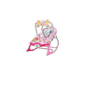 Snoopy - Cadeira de balanço rosa