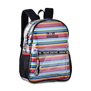 Mochila Now United Transparente com saco removível