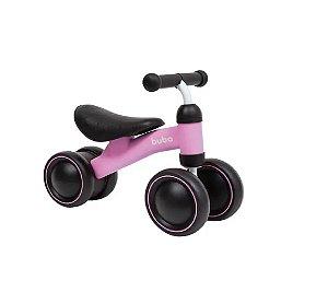 Bicicleta de Equilíbrio 4 Rodas Rosa - Buba