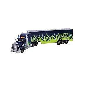 Caminhão c/ Controle Remoto Azul/Verde Unik Toys BT2003-2