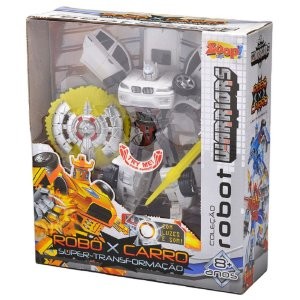Robot Warriors Branco Com Luz e Som ZP00173 Zoop Toys