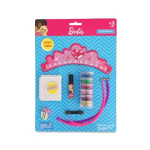 Cartela Glitter Tatoo Barbie
