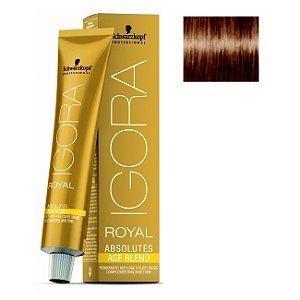 Coloração Igora Royal Absolutes Age Blend 8-07 Louro Claro Natural Cobre 60ml Schwarzkopf