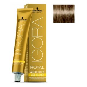 Coloração Igora Royal Absolutes Age Blend 8-01 Louro Claro Natural Cinza 60ml Schwarzkopf