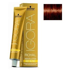 Coloração Igora Royal Absolutes Age Blend 7-710 Louro Médio Cobre Cinza 60ml Schwarzkopf