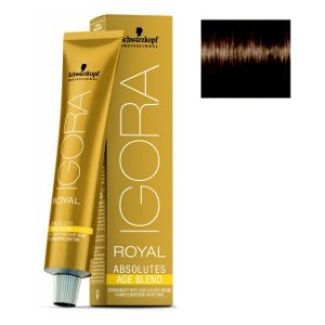 Coloração Igora Royal Absolutes Age Blend 6-07 Louro Escuro Natural Cobre 60ml Schwarzkopf