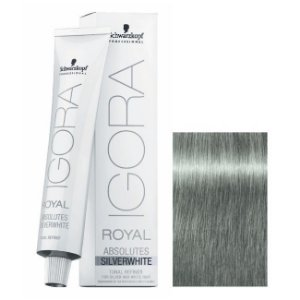 Coloração Igora Royal Absolutes Silverwhite Cinza Platina 60ml Schwarzkopf