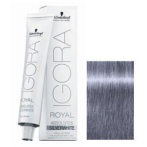 Coloração Igora Royal Absolutes Silverwhite Cinza Lilas 60ml Schwarzkopf