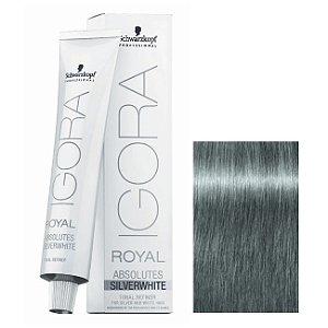 Coloração Igora Royal Absolutes Silverwhite Cinza Ardosia 60ml Schwarzkopf