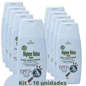 Shampoo Higiene Unica Capilar 200ml  Kit 10 und