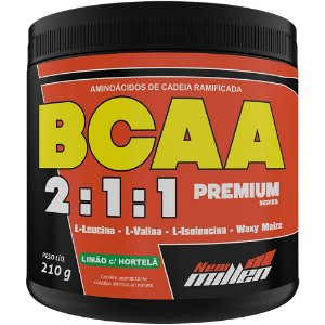 BCAA Premium 2:1:1 Limão com Hortelã 210g - New Millen