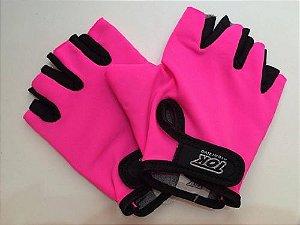 Luva para Musculação Rosa P - Tok Esportivo