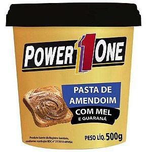 Pasta de Amendoim com Mel e Guaraná 500g - Power1One