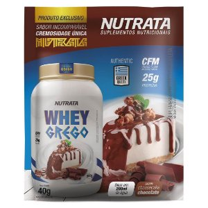 Display Whey Grego sachê 40g - Nutrata
