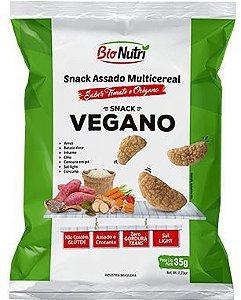 Snack de Arroz Vegano Sabor Tomate e Orégano 35g - Bionutri
