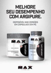 L-Arginine Argipure 100g - Max Titanium