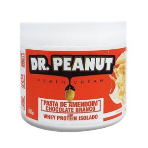 Pasta de Amendoim Chocolate Branco com Whey 500g - Dr. Peanut