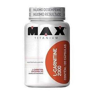 L-Carnitine 2000 120 Cápsulas - Max Titanium