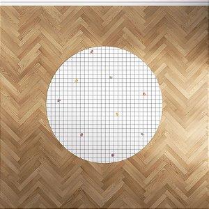 Playmat Grid Passarinhos redondo