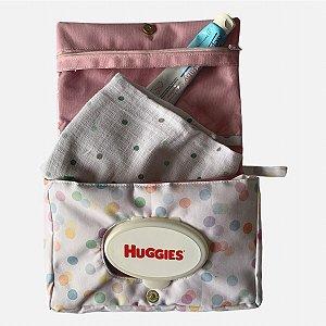 Porta fraldas portátil Confetti colorido