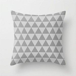 Capa de almofada Triângulos cinza