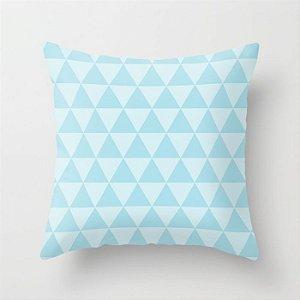 Capa de almofada Triângulos azul bebê