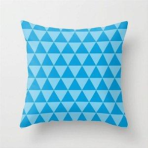 Capa de almofada Triângulos Azul Céu