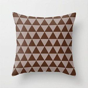 Capa de almofada Triângulos Café