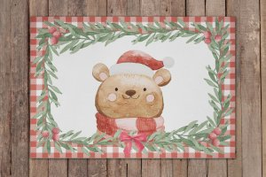 Jogo Americano Natal Urso