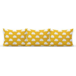 Kit almofadões para cama Céu amarelo