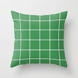Capa de almofada Quadrados Verdes