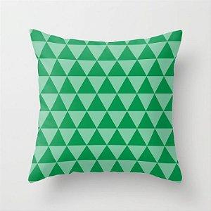 Capa de almofada Triângulos Verdes