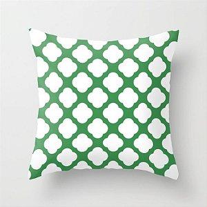 Capa de almofada Cute Verde e Branco
