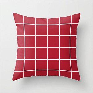 Capa de almofada Quadrados Vermelhos
