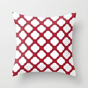 Capa de almofada Cute vermelho e branco